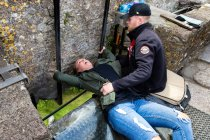 Kissing the Blarney Castle Stone